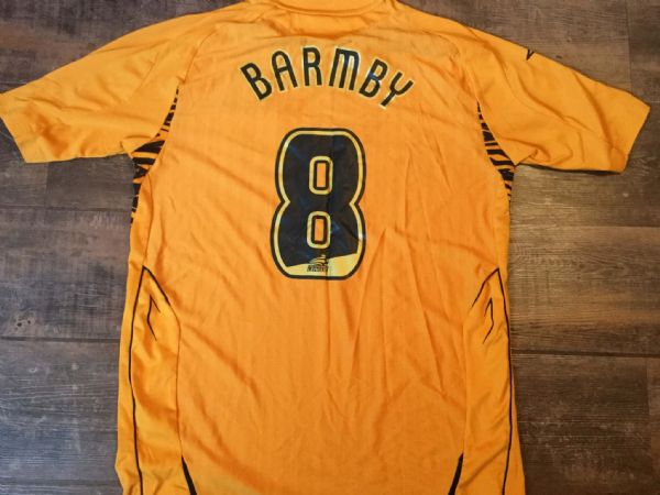 2007 2008 Hull City Barmby No 8 Home Football Shirt Adults Large